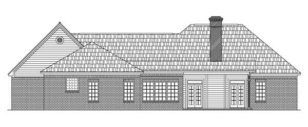 Вид сзади Проект одноэтажного кирпичного дома с мансардой и цокольным этажом 188 кв м
