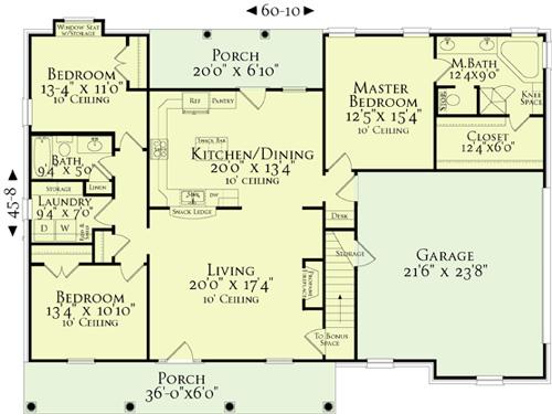 План 1 этажа Проект одноэтажного кирпичного дома с вальмовой крышей