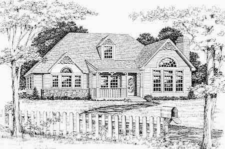 Удобный дом План 1-этажного дома 15x22 158 кв м