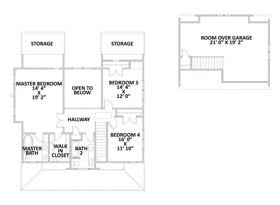 Проект двухэтажного каркасного дома 11 на 10 метров площадью  до 200 кв.м с отдельным гаражом на 2 машины, комнатой над гаражом и с 4 спальнями подходит для постоянного проживания.