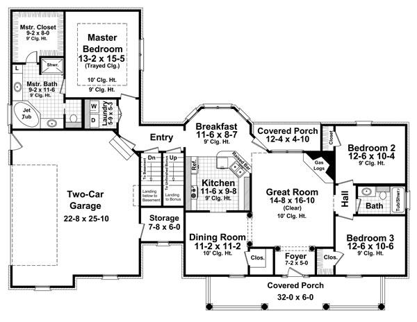 План 1 этажа План 1-этажного дома с маленькой мансардой KD-8567-1-3 151 кв м