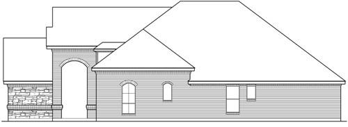 Вид справа План 1-этажного дома 272 кв м