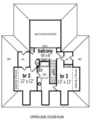 План 2 этажа План 1-этажного дома в стиле прованс с вторым светом