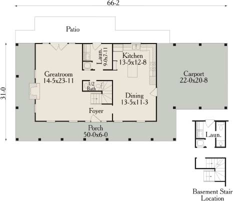План 1 этажа План 2-этажного дома с большой верандой 175 кв м