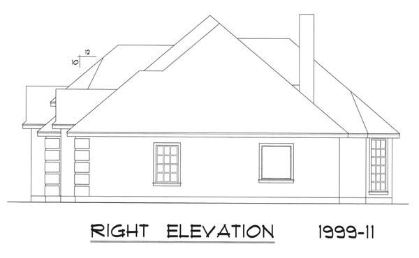 Вид справа Дом в европейском стиле с вальмовой крышей