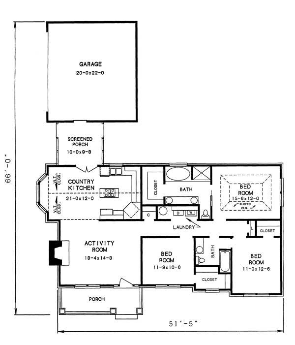 Этот красивый проект одноэтажного дома в американском стиле площадью  до 150 кв.м с гаражом на 2 машины и с 3 спальнями подходит для постоянного проживания. В большой спальне есть ванная. Также перед домом есть веранда..