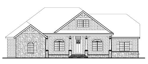 Удобный дом План 1-этажного дома JA-4937-1-3 в стиле кантри