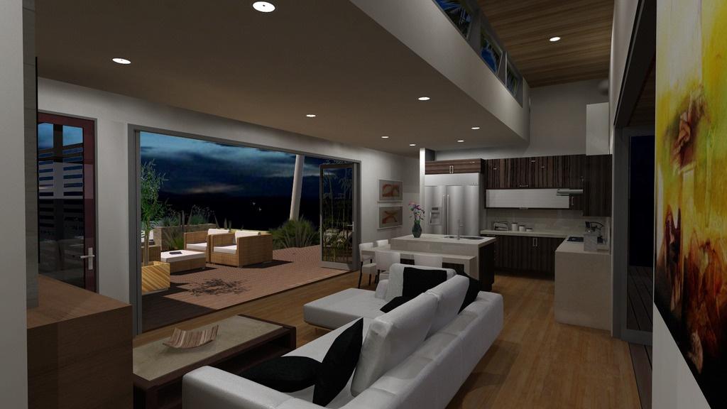 Этот удобный проект одноэтажного дома в современном стиле площадью  до 100 кв.м с 2 спальнями подходит для постоянного проживания. Также перед домом есть веранда..