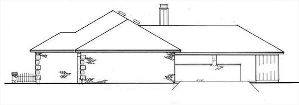 План 1-этажного дома 174 кв м House Right Elavation