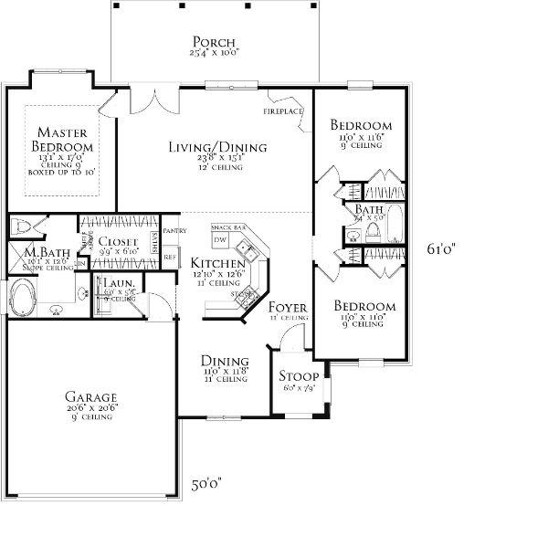План 1 этажа План 1-этажного дома 15x19 156 кв м