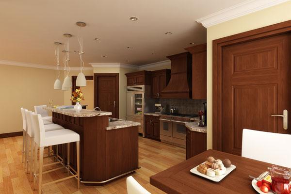 Красивый дом Проект красивого одноэтажного дома HD-4446-1-3 с внутренним двориком в стиле кантри