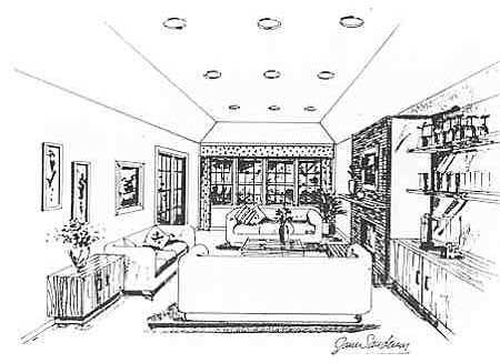 Проект каркасного дома План 1-этажного дома 18x15 146 кв м