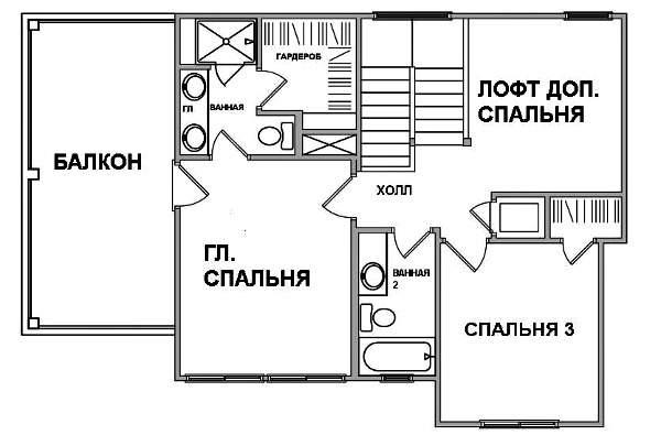 Интересный проект двухэтажного каркасного дома в современном стиле 11 на 9 метров с террасой на втором этаже площадью  до 150 кв.м с гаражом и с 3 спальнями подходит для постоянного проживания.