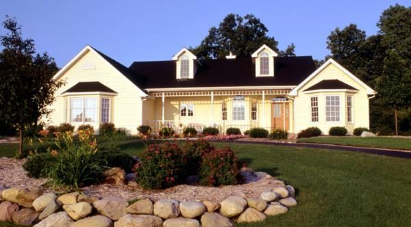 Уютный дом План 1-этажного дома 18x15 148 кв м