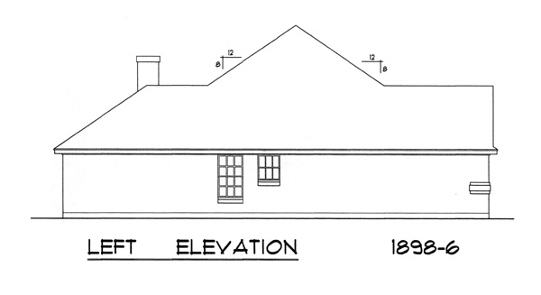 Вид слева План 1-этажного дома 18x16 176 кв м