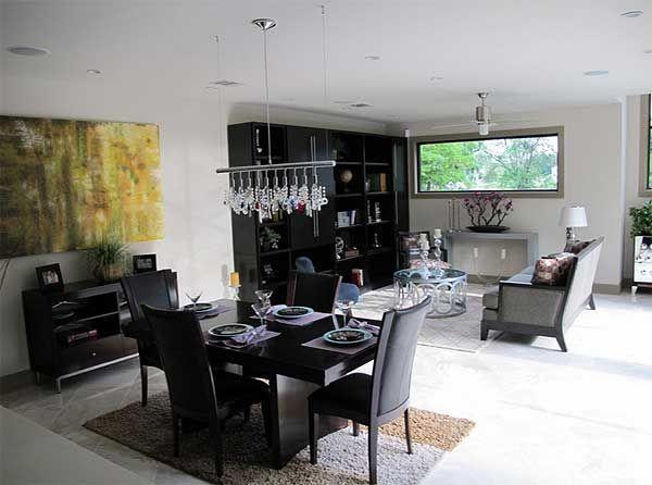 Столовая и гостиная в современном стиле TD-44069-2-4