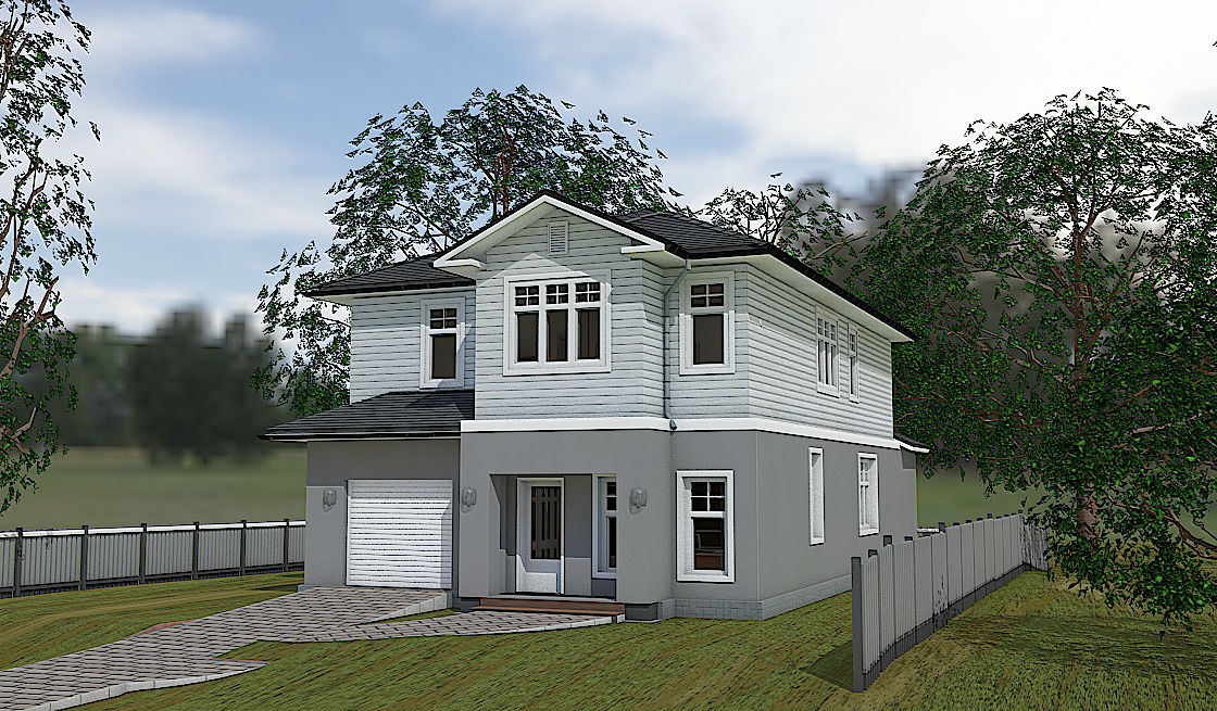 House Plan AM-4374-2-3: Two story contemporary house plan ... on narrow home plans with garage, cabin plans with attached garage, foundation with attached garage, narrow lot house plans with side entry garage, narrow lot house plans with detached garage, narrow lot house plans with three car garage,