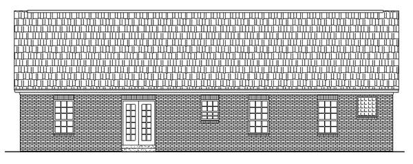 Вид сзади План одноэтажного дома с гаражом до 150 кв.м