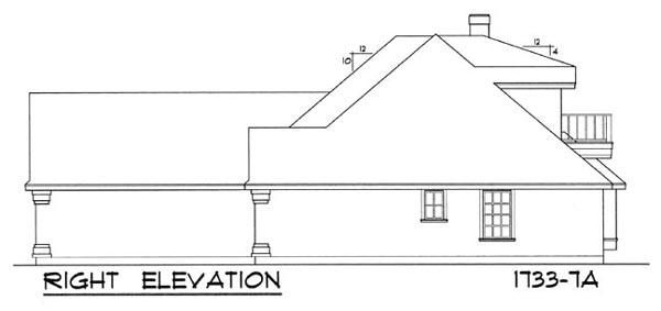 Вид справа Проект одноэтажного дома с мансардой с 8 угольной столовой 161 кв м