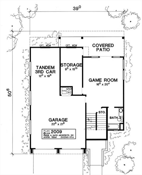 План 1 этажа План 2-этажного дома 12x15 м.