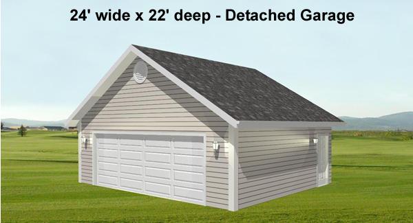 Вариант с отдельным гаражом План 1-этажного дома Г-образной формы с большими верандами