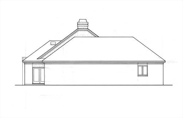 Вид сзади План 1-этажного дома П-образной формы 175 кв м