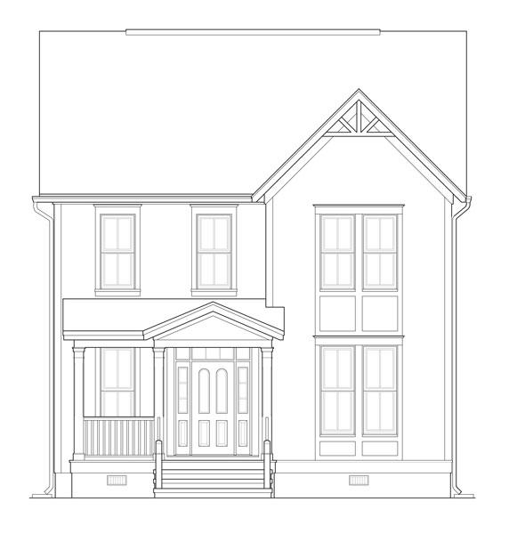 Удобный дом План 2-этажного дома 9x13 167 кв м