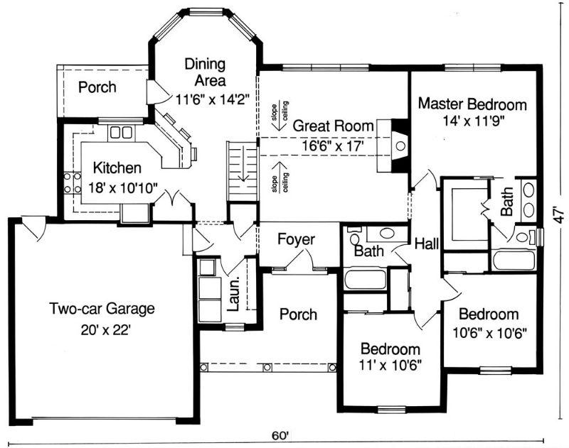 План 1 этажа Проект одноэтажного кирпичного дома площадью до 140 кв м