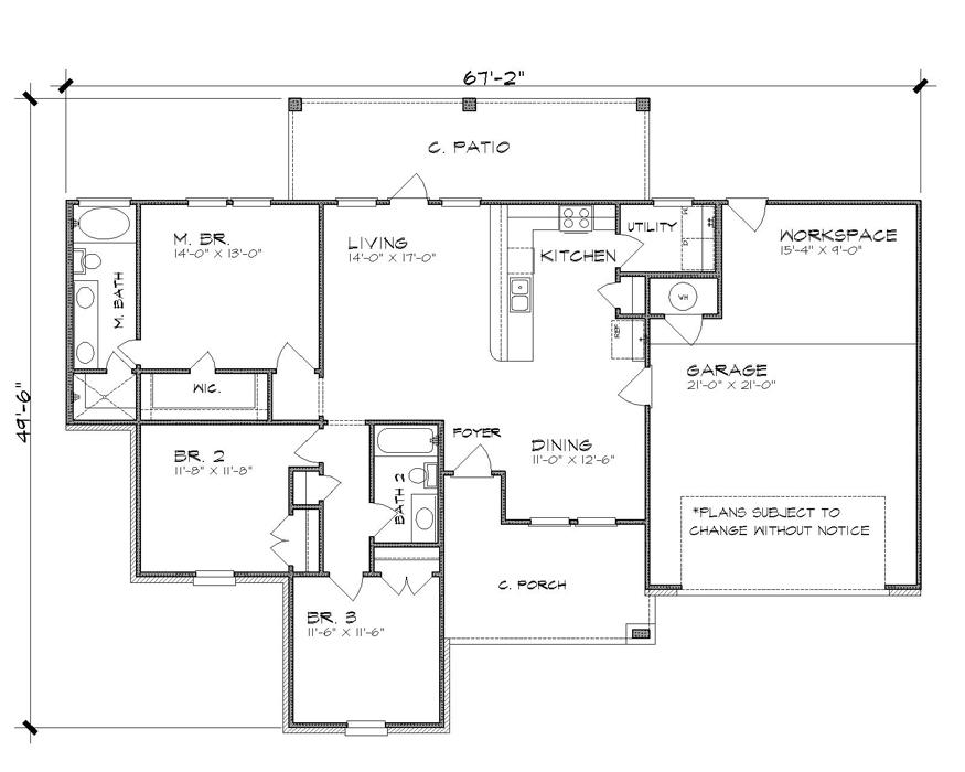 План 1 этажа План KD-4215-1-3
