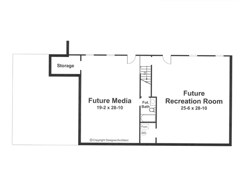 Этот привлекательный проект одноэтажного дома  площадью  до 150 кв.м с гаражом на 2 машины и с 3 спальнями подходит  строительства дома с цокольным этажом на участке с уклоном и  для строительства дома с цокольным этажом на склоне . В большой спальне есть ванная. В проекте дома есть терраса..