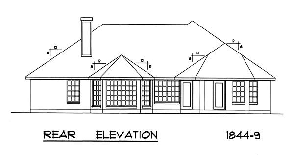 Вид сзади План 1-этажного дома RD-2862-1-3 171 кв м