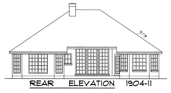 Вид сзади План 1-этажного дома 15x17 177 кв м