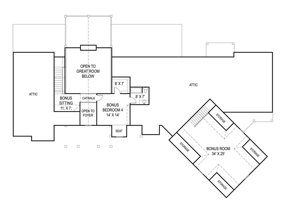 План 2 этажа Проект одноэтажного дома в стиле кантри с цокольным этажом и 5-6 спальнями