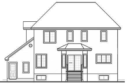 План двухэтажного каркасного дома в стиле шато площадью  до 200 кв.м с гаражом на 2 машины, 3 спальнями, большим кабинетом, подвалом и эркерами подходит для постоянного проживания.