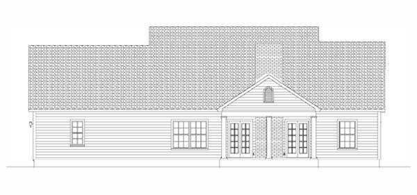 Проект одноэтажного дома в скандинавском стиле площадью до 200 кв.м с гаражом на 2 машины с боковым въездом и 3 спальнями. Фасад с верандой спереди и эркером.