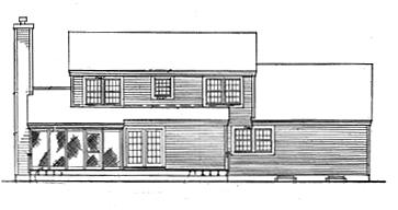 Вид сзади Проект одноэтажного дома с мансардой и верандой перед домом