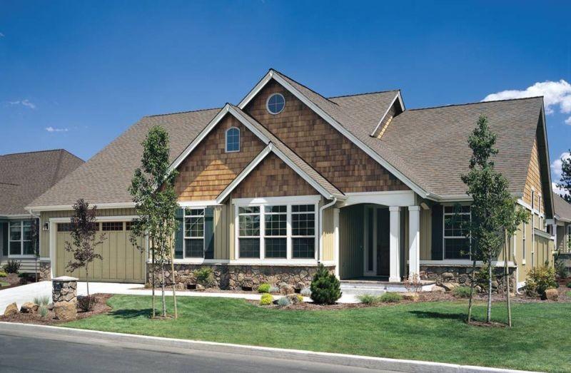 Вариант фасада AM-4584-1-3 План 1-этажного дома 18x15 186 кв м