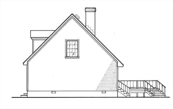 Вид справа План 2-этажного дома 15x9 127 кв м