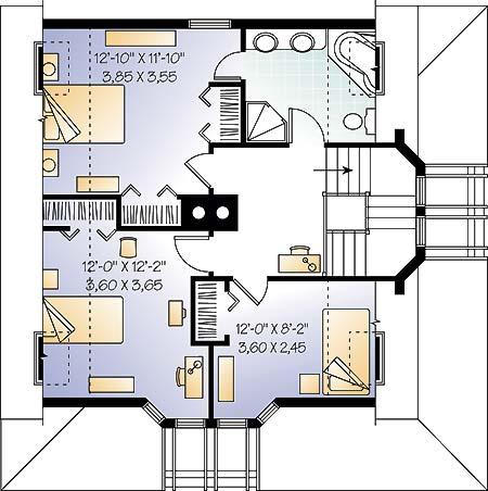 План 2 этажа План одноэтажного дома с мансардой 8 на 8 с подвалом и угловой верандой