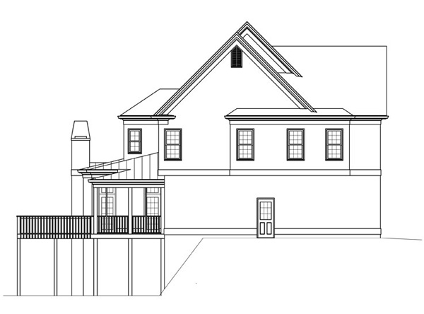 Вид слева План 2-этажного дома 13x16 JL-1427-2-5