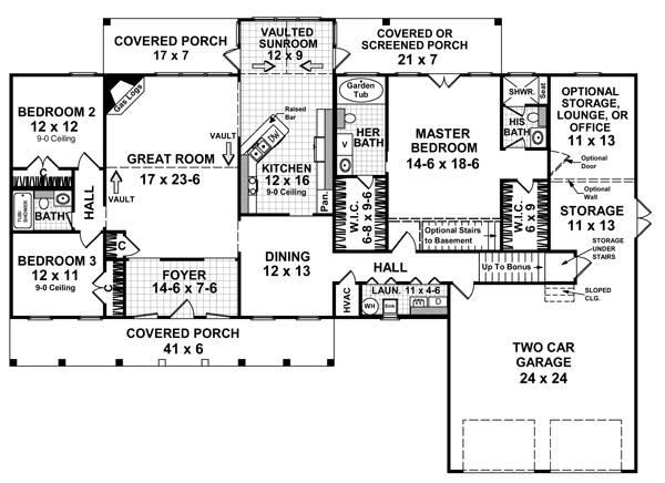 План 1 этажа План одноэтажного дома с верандой и мансардой