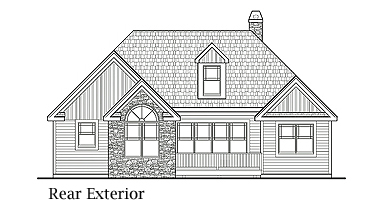 Вид сзади План одноэтажного дома 15x16 с возможностью пристройки гаража