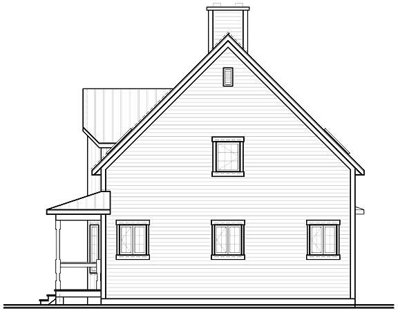 Вид сзади План одноэтажного дома с мансардой 8 на 8 с подвалом и угловой верандой