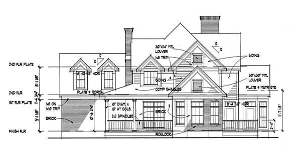 Вид справа Проект дома г-образной формы с мансардой, верандами и гаражом