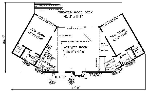 Этот удобный проект одноэтажного дома в современном стиле площадью  до 150 кв.м с гаражом на 2 машины и с 3 спальнями подходит для постоянного проживания. В проекте дома есть терраса..