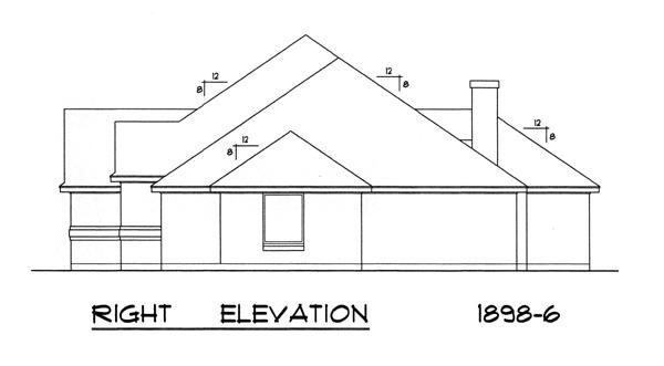 Вид справа План 1-этажного дома 18x16 176 кв м