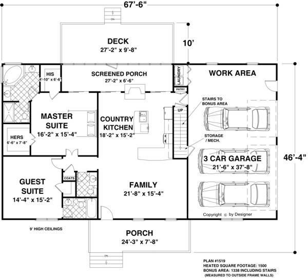 План 1 этажа План одноэтажного дома 21 на 14 до 150 кв м