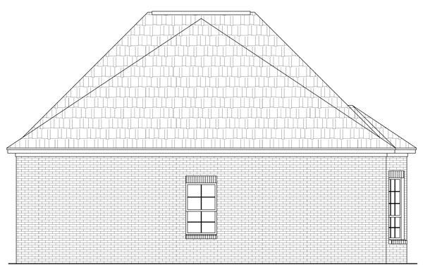 Вид сзади Проект кирпичного дома с узким фасадом и мастерской в гараже