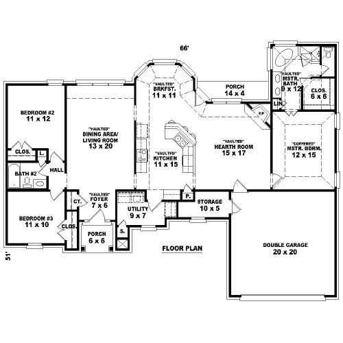Замечательный проект одноэтажного дома  площадью  до 200 кв.м с гаражом на 2 машины и с 3 спальнями подходит для постоянного проживания. Также сзади дома пристроена веранда..
