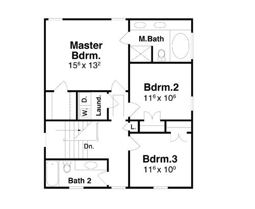 План 2 этажа Проект простого двухэтажного дома окруженного террасой
